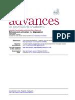 Behavioural Activation for Depression - David Veale