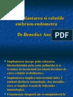 Ovoimplantarea Si Relatiile Embrion-Endometru