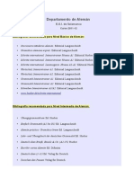 Bibliografia Recomendada Aleman Curso 201112