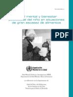 Salud Mental Y Bienestar Psicosocial en Situaciones de Emergencias