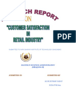 Customer Satisfaction in Retail Industry