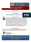 Surety Bonds - A Basic Primer and the Insolvency Twist