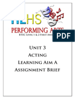 unit 3a acting assignmnet brief