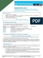 Dossier Candidature Trophée Start Up-Numérique 2014