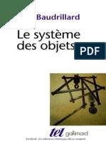 Le Système Des Objets - Jean Baudrillard