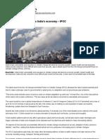 Climate Change Threatens India's Economy – IPCC