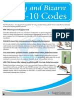 Funny and Bizarre ICD-10 Codes