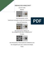 COMBINAÇOES MINECRAFT 1.8.1