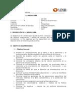 Derecho Económico I - LEX 205