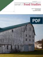 Graduate Journal of Food Studies--January'15 WEB Issue WEB