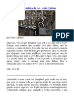 Liberdade Da Escravidão Da Lei - João Calvino