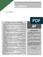 Prova - 2013 Psicologia Jurídica