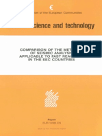 Comparison of the Methods of Seismic Analysis Applicable to Fast Reactors in the EEC Countries