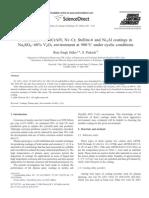 Performance of NiCrAlY, Ni–Cr, Stellite-6 and Ni3Al coatings in Na2SO4_60% V2O5 environment at 900°C