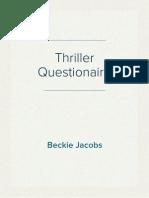 Thriller Questionaire