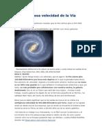 La Vertiginosa Velocidad de La Vía Láctea