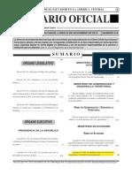 Diario Oficial El Salvador