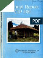 CIP Annual Report 1981
