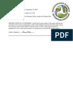 Disadvantaged Business Enterprise (DBE) Policy Analysis