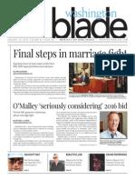 Washingtonblade.com, Volume 46, Issue 4, January 23, 2015