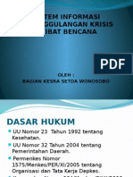 Sistem Informasi Penanggulangan Krisis Akibat Bencana
