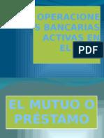 Operaciones Bancarias Activas en El Peru - Exposicion