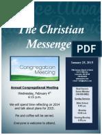 January 25 Newsletter