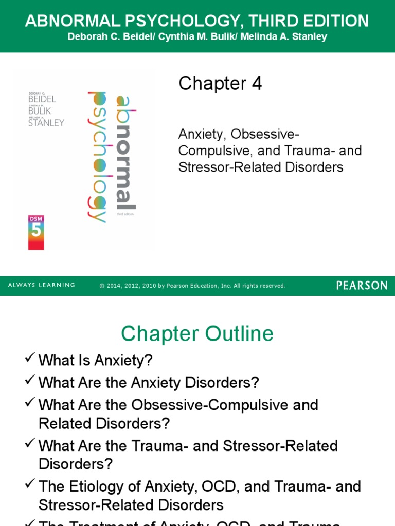 Workbooks the anxiety and phobia workbook 5th edition : Chapter 4 Powerpoint: Anxiety   Anxiety Disorder   Obsessive ...