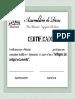 Certificado EBD