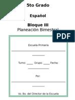 5to Grado - Bloque 3 - 2014-2015