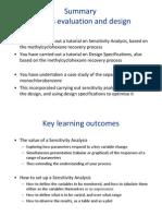 CE2105 Slides Summary - ProcessEvaluationandDesign