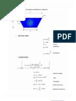 Sección Triangular Rectangular Baúl Mathcad