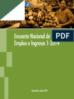 Encuesta Nacional de Empleo e Ingresos 2014 Guatemala