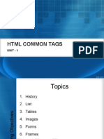 Unit-1 HTML Common Tags