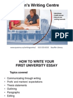 How to Write Your First Essay