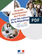 Mobilisation de l'École pour les valeurs de la République - Toutes les mesures.