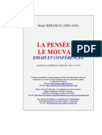 Bergson La Pensee Et Le Mouvant 1969