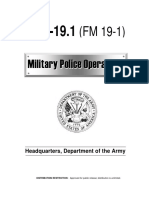 FM 3 19.1 Military Police Operations Field ManualManual