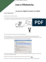 Como Construir La Pizarra Digital Usando Un Tablet Con Android _ Matemáticas a Distancia