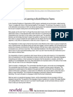 Learning Teams and Learn to Build Effective Teams - CP1