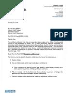 Frank Gale Letter of Discipline