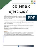 DIFERENCIA ENTRE PROBLEMA Y EJERCICIO