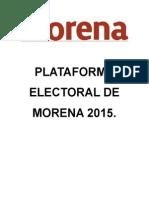 Plataforma Electoral de Morena 2015