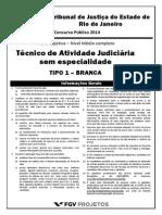 Fgv 2014 Tj Rj Tecnico de Atividade Judiciaria Prova