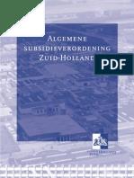 algemene subsidieverordening ZH