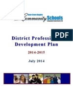 district professional development plan 2014-2015