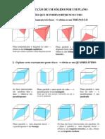 Secções num Cubo por um Plano