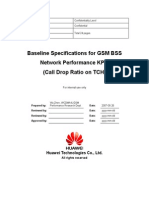 1. Baseline Specifications for GSM BSS Network Performance KPIs (Call Drop Ratio on TCH)