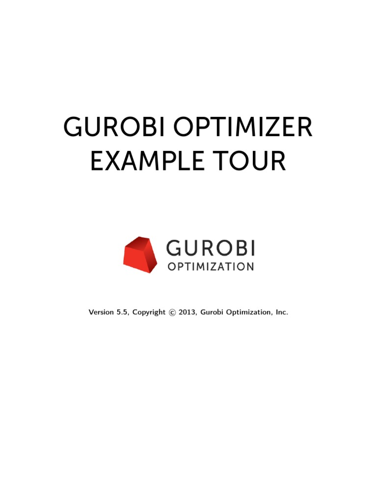 Gurobi Example Tour | Parameter (Computer Programming