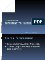 Clases de Programación Numerica